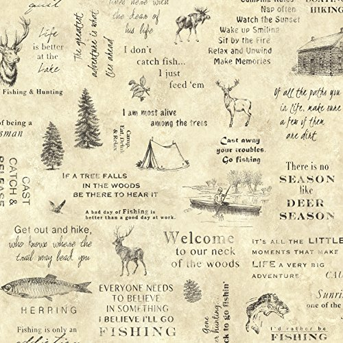 Chesapeake TLL01472 North Hills Script Wallpaper, Beige