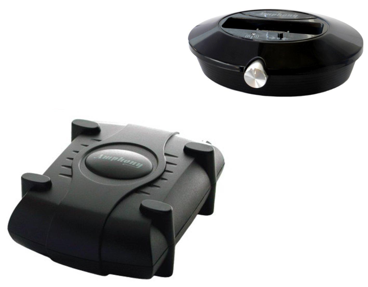 Kit haut parleur avec un amplificateur sans fil, Conforme aux enceintes surround, 2x40 Watts, Gamme de 100m, Connexion à n'importe quelle source audio, Mieux que le Bluetooth sans fil numérique Connexion à n'importe quelle source audio