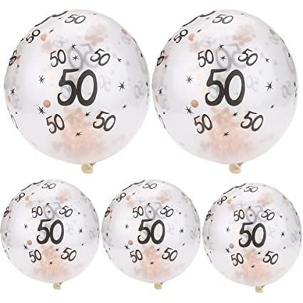 Igemy Ballons Joyeux Anniversaire 5 Pièces 30 40 50 Ans Remplis