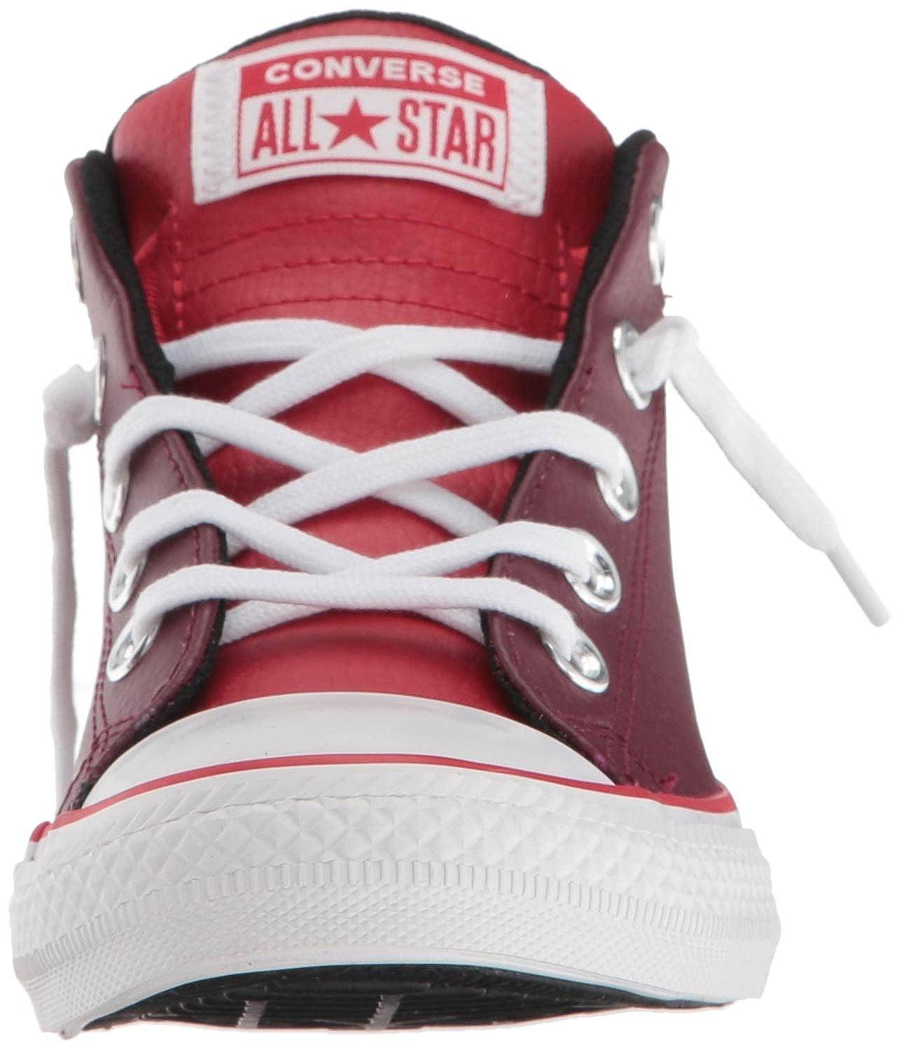 Converse Kids CTAS Street Mid Dark Burgundy//Enamel Red Sneaker
