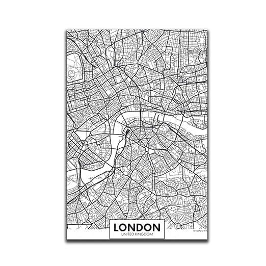 Censhaorme Londres Nueva York París Pared de la Lona Pintura ...