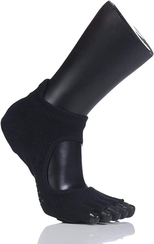 Toesox Half Toe Plie Calcetines de Yoga, Unisex Adulto ...