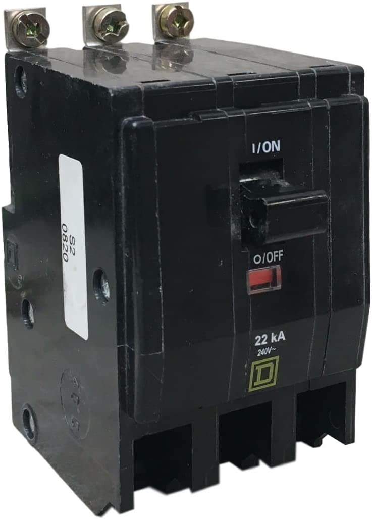 Schneider Electric QOB320VH QO Mini CB 20 A 3P 120 240 V 22 kA Bolt-on Mount Square D