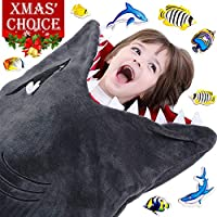 Cozy Shark Tails Blanket by CozyBomB for Kids - Smooth...