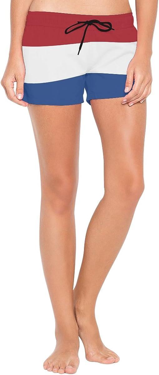 S-L Abbylife Netherlands Flag Womens Shorts Drawstring Sports Pants