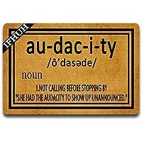 IFHUH Audacity Definition Doormat Funny Welcome Mat Front Door Mat Rubber Non Slip Backing Funny Doormat Indoor Outdoor…