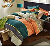 DHWM-Cotton thick woolen mill 4 piece set, bed pure cotton bed linen, Sheets Set of 4 piece ,1.8m