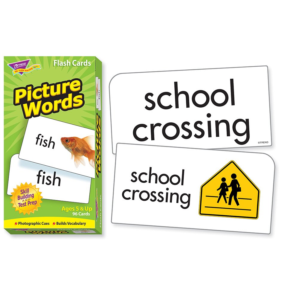amazoncom picture words flash cards toys games
