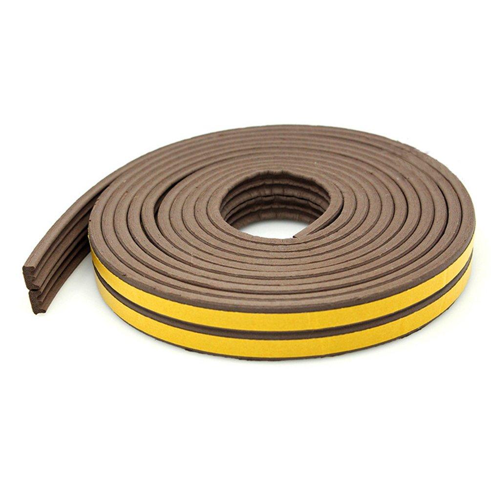 1000 * 9 * 4mm Lvguang Joint en E-Profile Adh/ésif pour Isolation Thermique de Portes et Fenetres Blanc E Forme