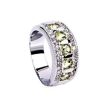 gyjun anillos boda/fiesta/día/Normal/Sport joyas circón/piedra preciosa