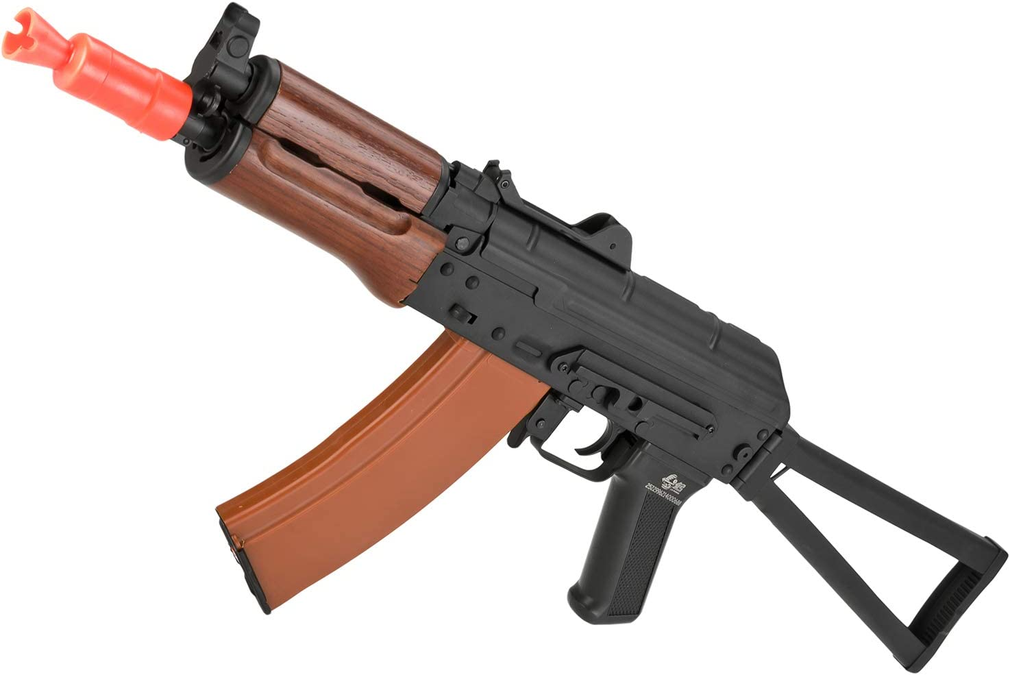 Evike JG Electric Blowback Airsoft AKS74U Folding Stock with Steel Receiver and Real Wood Furniture