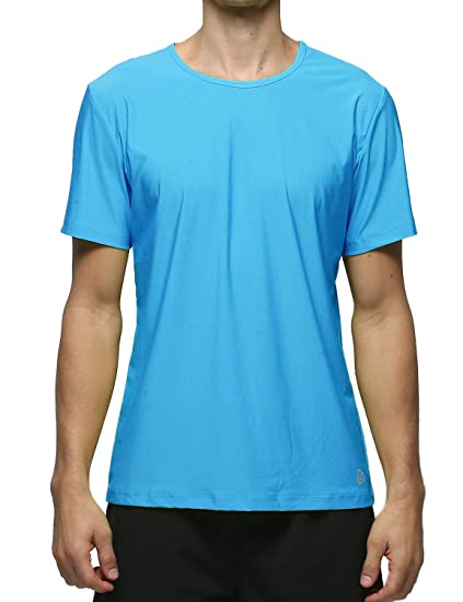 5079097a1b66ca Lavento Men s Workout Shirts Mesh Dri Fit Crewneck T-Shirts (1 Pack-3519