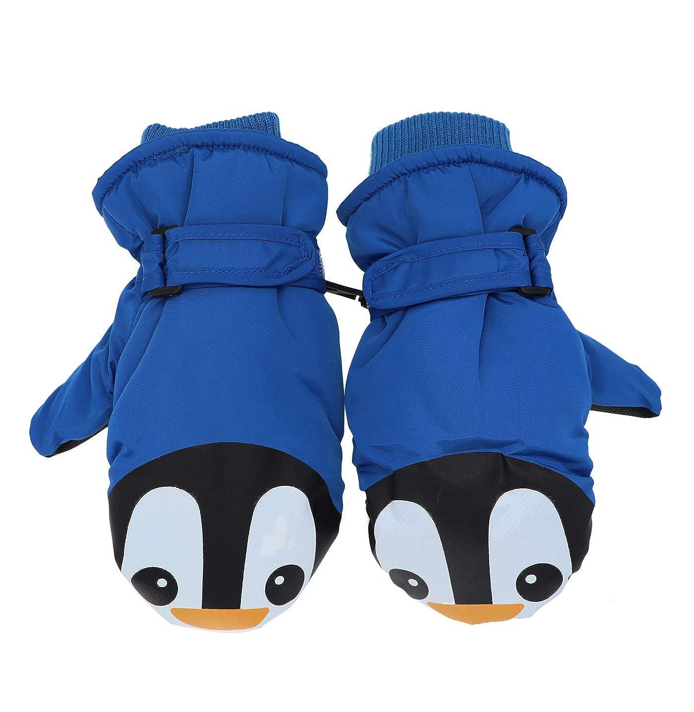 Kids Cute Penguin Gloves Mittens Winter Waterproof Ski Fleece Lined Snow Glove Thermal Warm Mitten for Boys Girls