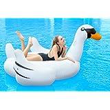 Bramble Großer aufblasbarer Schwan in Weiß – XXL Schwan Luftmatratze für Den Pool – Schwimmtier Schwimminsel & Badeinsel – Wassertier Floss für Kinder und Erwachsene – Geeignet ab 6 Jahren