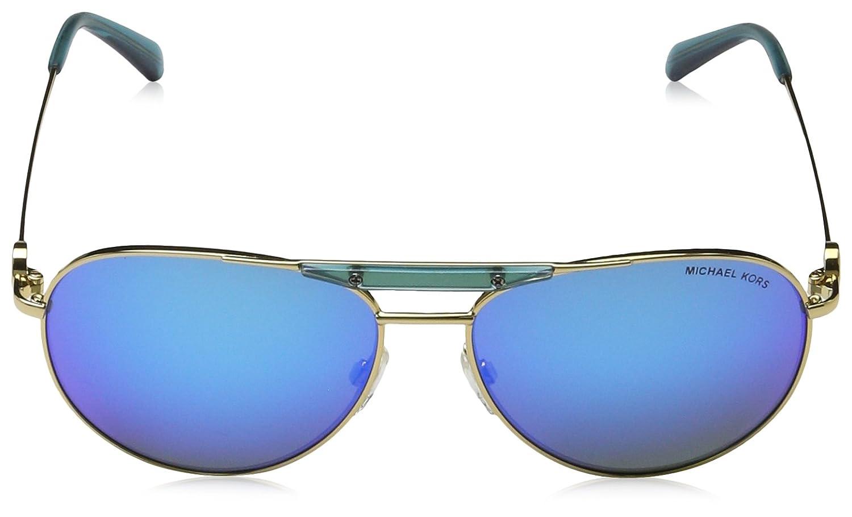4c86999804 Michael Kors ZANZIBAR MK5001 Sunglasses 109725-58 - Gold  Turquoise Frame