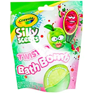 Silly Scents Kids Twisted Bath Bomb Fizzie (Apple Watermelon)