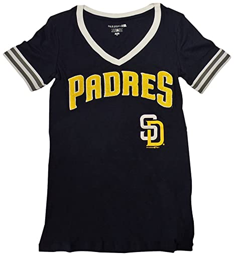 cheap for discount 0098e cf7c1 Amazon.com : San Diego Padres Women's S/S V-Neck Baby Jersey ...