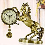 ZAZAZA European-style bronze bells modern stylish living room quiet clock Decoration