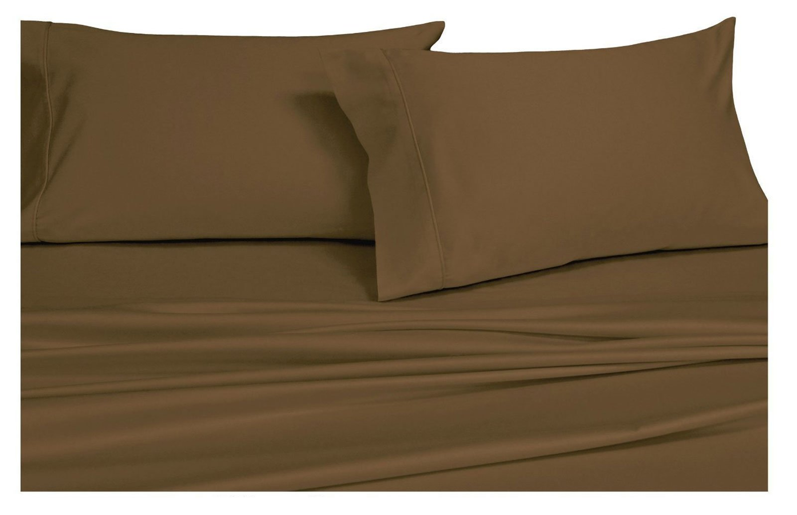 Twin Extra Long Solid Taupe Wrinkle-Free Brushed Microfiber Sheet Set, deep pocket, 95gsm, 100% Luxury sheets.