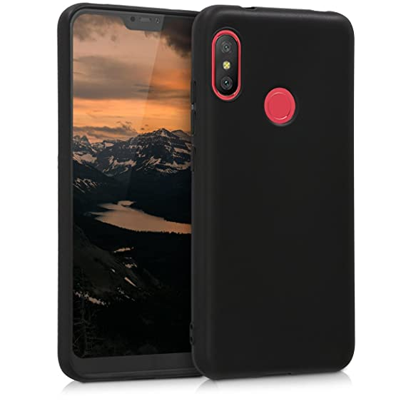 the latest f2c11 be977 kwmobile TPU Silicone Case for Xiaomi Redmi 6 Pro/Mi A2 Lite - Soft  Flexible Shock Absorbent Protective Phone Cover - Black Matte