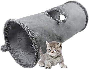 Neu 5Wege Katzentunnel Spielzeug grau Rascheltunnel Spieltunnel für Katzen