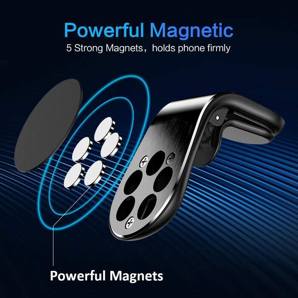 Morza Universel pour t/él/éphone Portable Voiture Grille da/ération Mobile Support magn/étique adh/ésif Pi/ètements