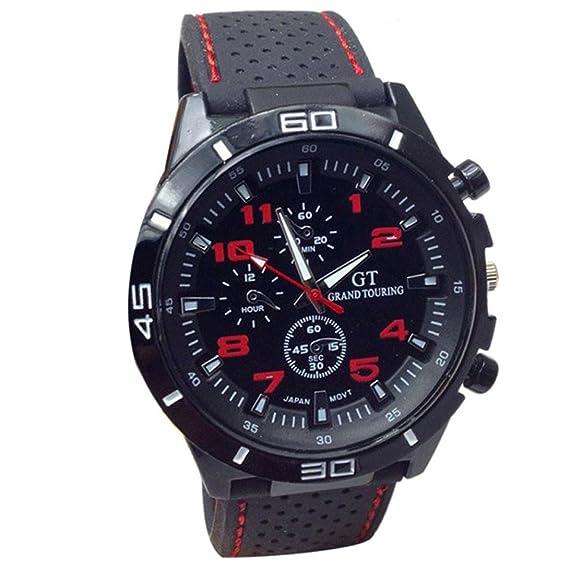 OverDose Cuarzo Reloj Hombres Relojes Militares Deporte Reloj Silicona Moda Horas RD: Amazon.es: Relojes