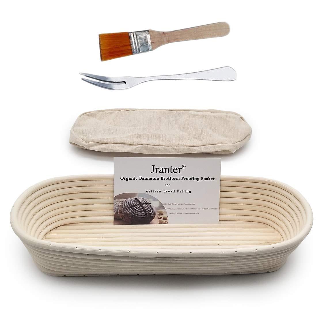 Banneton Bread Proofing Basket 10 pulgadas Brotform de levantamiento de masa fermentada ovalada, 25158 cm BabyFoxy