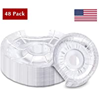 Electric Oven Drip Pan Liner Aluminum Foil Disposable Round Bib Liners Set of 48 Made in USA Tribello Stove Burner Covers 24 Large /& 24 Small