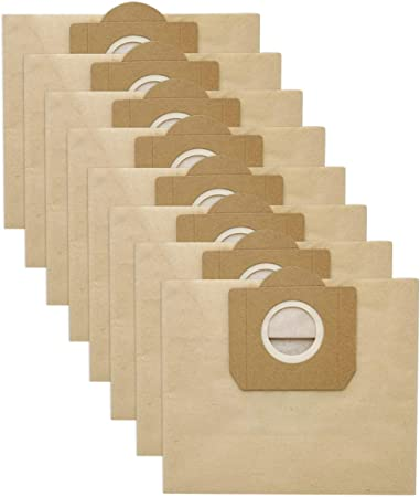 10 piezas Bolsas de filtro de Repuesto para Aspiradores de Aspiradora Karcher Wd + Ad Compatible con WD 3 en Papel: Amazon.es: Hogar