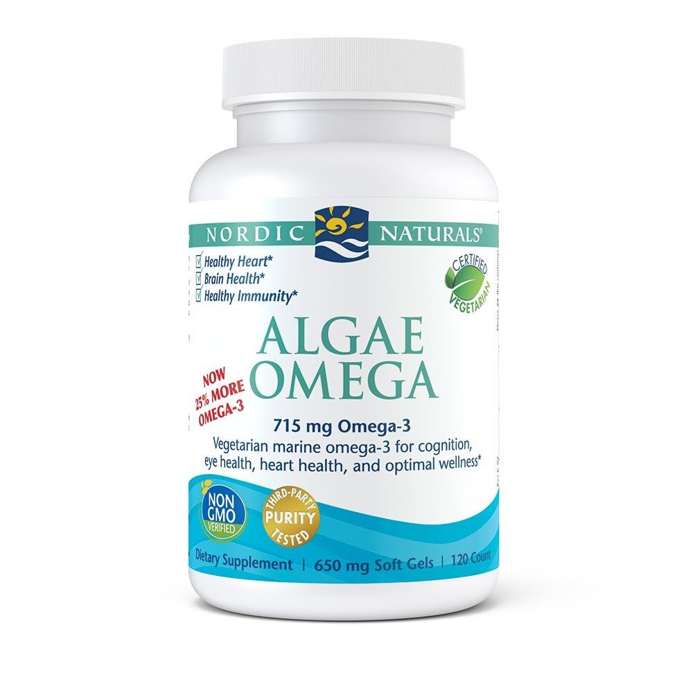 Nordic Naturals Algae Omega - Eye Health, Heart Health, and Optimal Wellness, 120 Soft Gels