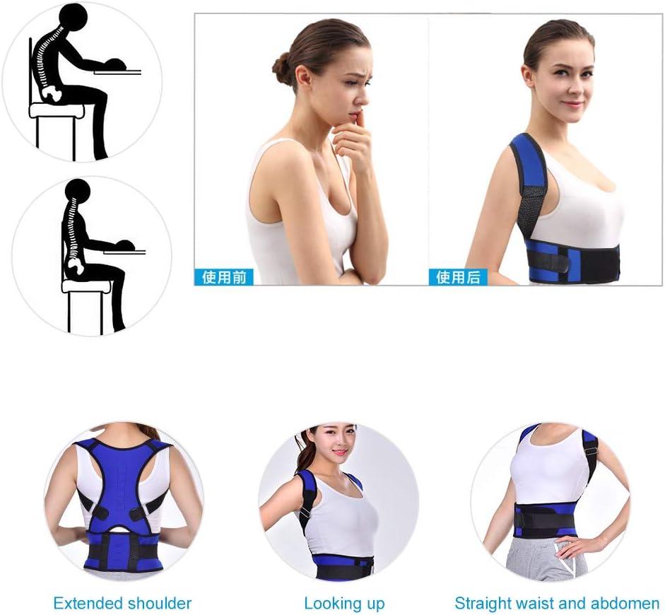 2XL Regolabile Correttore di Postura Indietro Traspirante Supporto a Fascia Regolabile Postura Correzione Cintura di Sostegno Lombare per Uomo e Donna
