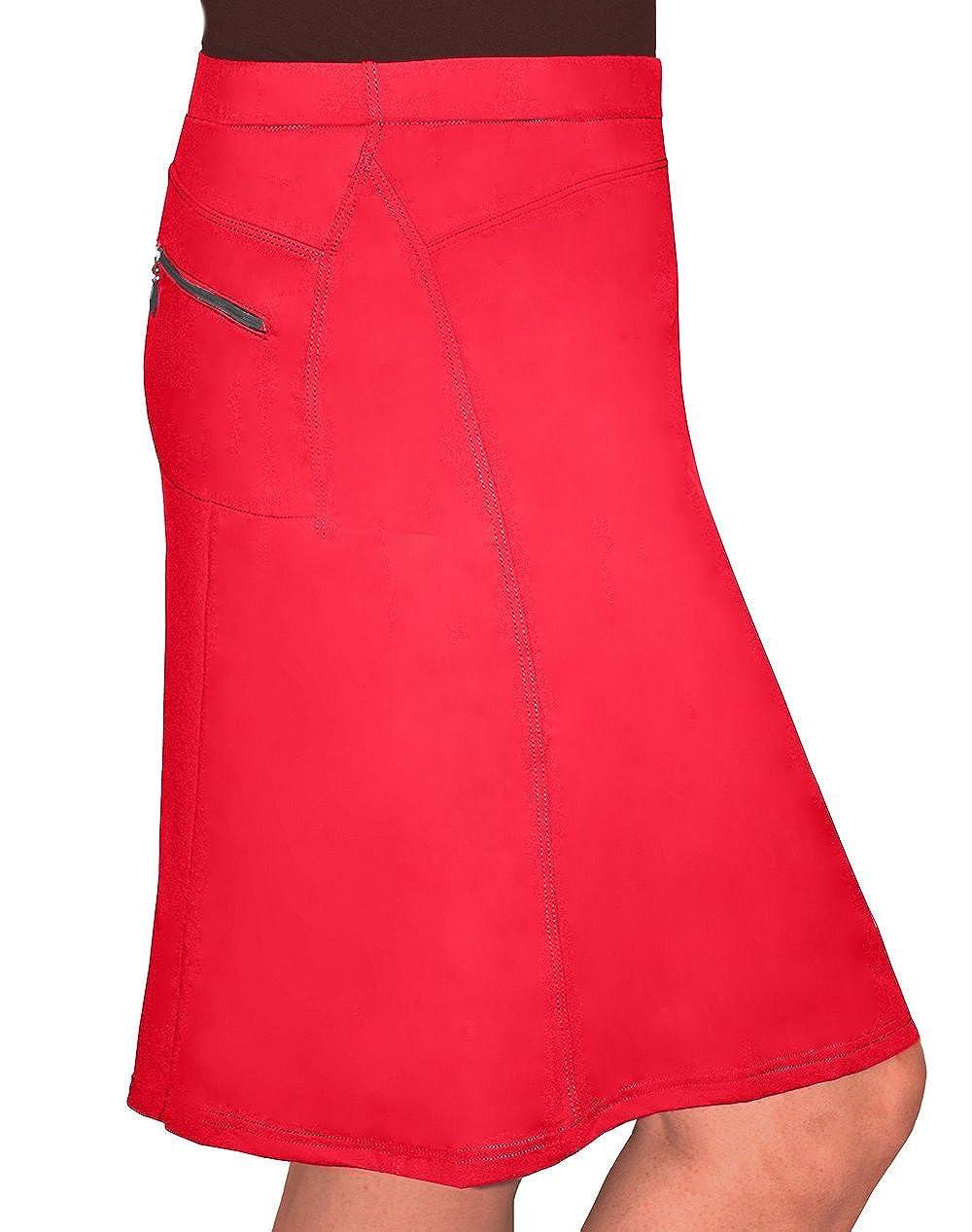 Kosher Casual Women's Modest Knee-Length Swim & Sport Skirt With Built-In Shorts - Skort Style 1475-AXS-BK-$P