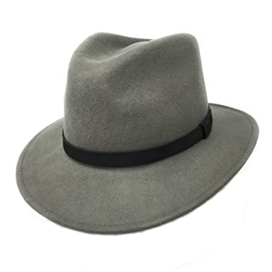 Cotswold Country Hats Fedora Hat Wool Felt Crushable with Leather Belt Trim  - Mixed Colours   84d9919fbac
