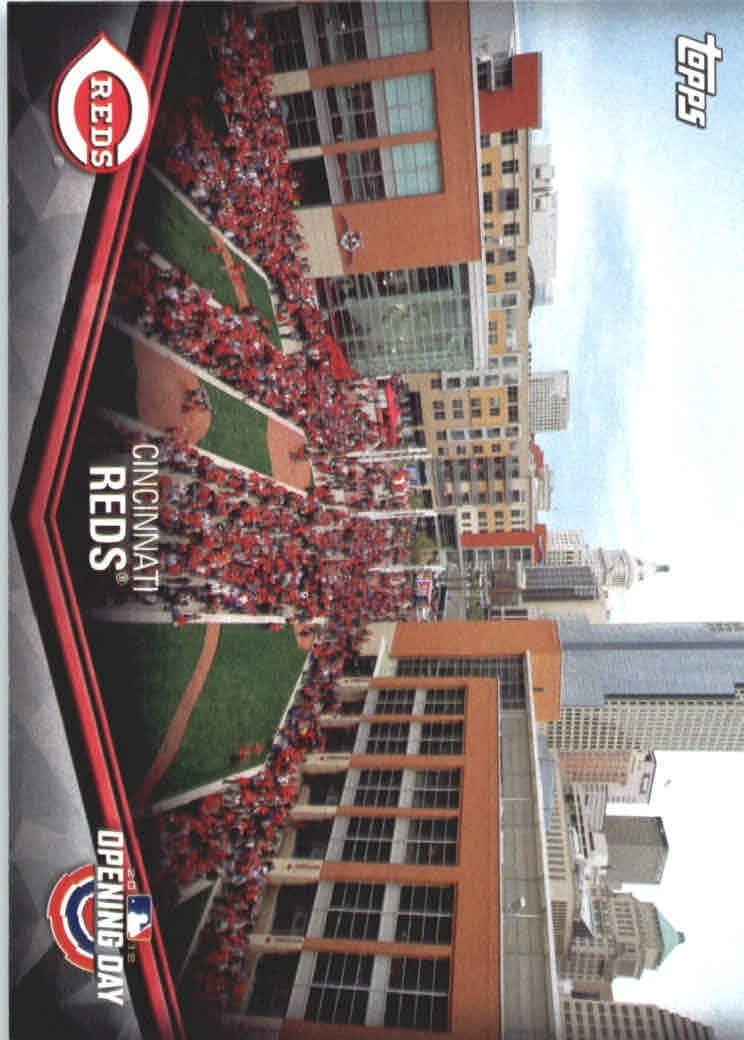 2018 topps opening day baseball at the ballpark odb cr cincinnati reds at amazon s sports collectibles store amazon com