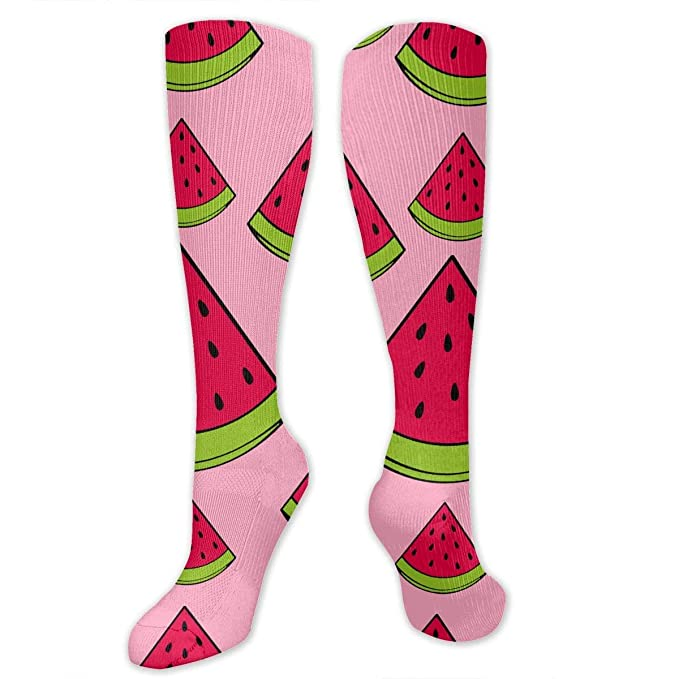 c9a4feec20c Amazon.com  SmartPig CIWO Cks Unisex Fruit Watermelon Soft Cotton Knee High  Socks Fashion Novelty Socking (1 Pair)  Clothing