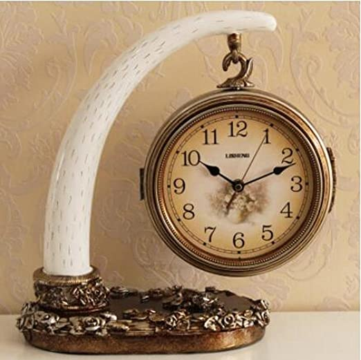 FDHLTR Reloj de Mesa de Arte, decoración del hogar, Reloj de ...