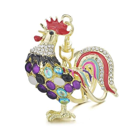 Amazon.com: UELNncm - Llavero con diseño de gallo y ópalos ...