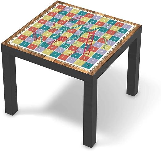 Möbel Klebefolie für Kinder passend für IKEA Lack Tisch 55x55 cm I Tolle Möbelsticker für Kinderzimmer Einrichtung I Design: Spieltisch Leiternspiel