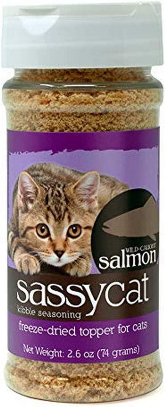 Herbsmith Sassy Cat Kibble Seasoning – Cat Food Topper for Picky Eaters – Made in USA