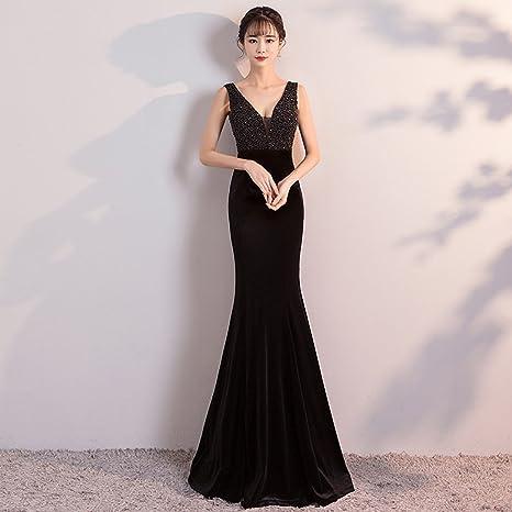 Vestidos negro con vino