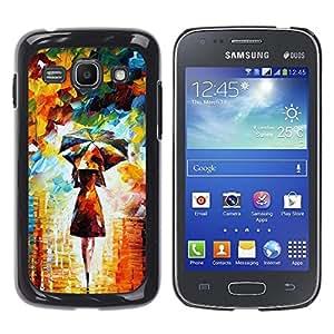Qstar Arte & diseño plástico duro Fundas Cover Cubre Hard Case Cover para Samsung Galaxy Ace 3 III / GT-S7270 / GT-S7275 / GT-S7272 ( Painting Colorful Girl Woman Umbrella Art)