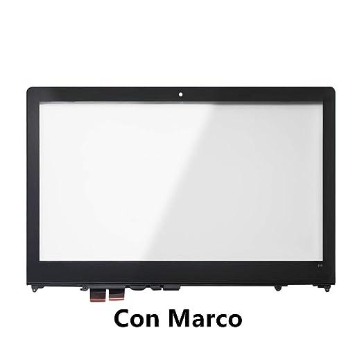FTDLCD® 15.6 Inch Frente de Vidrio Pantalla Táctil Digitalizador Reparación de Portátil para Lenovo Yoga 510-15 (con Marco): Amazon.es: Electrónica