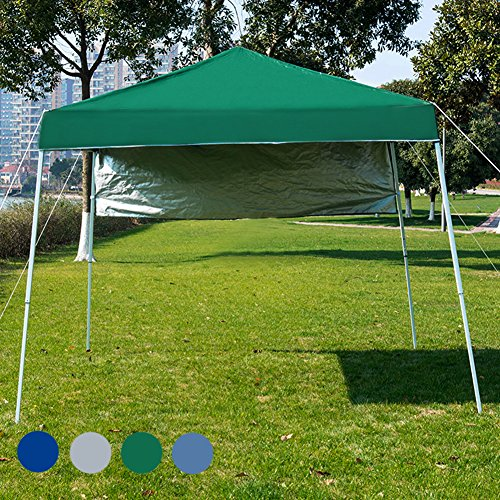 Sundale Outdoor 8 x 8 FT Heavy Duty Pop Up Canopy Waterproof UV-Protected Gazebo Portable Instant Shade Folding Shelter Patio Wedding Party Tent with Carrying Bag (Green) by Sundale Outdoor