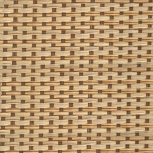 """Chicology Adjustable Sliding Panels Cut to Length Vertical Blinds, Up to 80"""" W X 96"""" H, French Sandalwood (Privacy & Natural Woven)"""
