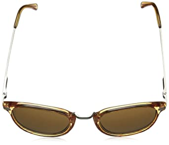 3fb9be0c7b Amazon.com  A.J. Morgan Castro Round Sunglasses Amber 49 mm  Clothing