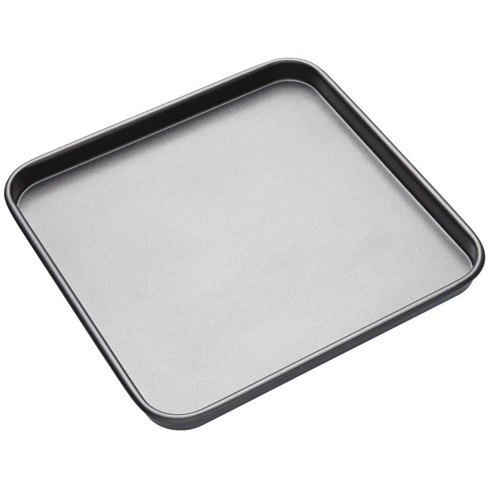 Master Class KitchenCraft KCMCHB70 Quadratisches Antihaft-Backblech, Stahl, grau, 26 x 26 x 1 cm