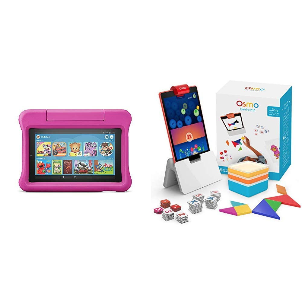 Fire 7 Kids Edition Tablet + Osmo Genius Kit Bundle (Pink)