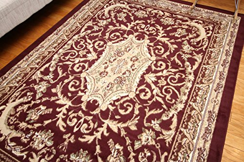 Burgundy Persian Rug (Generations Traditional Opera Persian Area Rug, 2' x 3', Red/Burgundy)