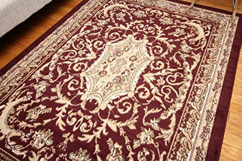 Persian Burgundy Rug (Generations Traditional Opera Persian Area Rug, 2' x 3', Red/Burgundy)
